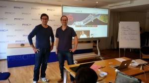 Steffen (links) vom Brandenburg-Blog und Karsten