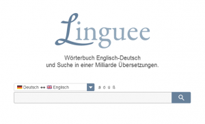 Linguee, Quelle: Screenshot Webseite