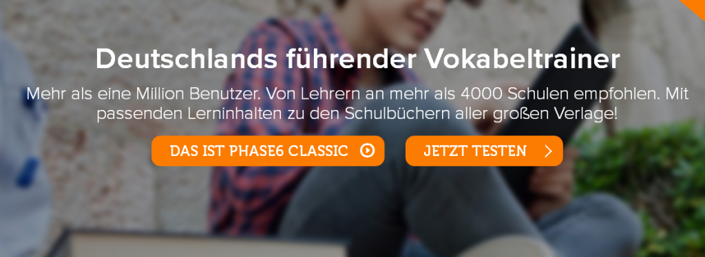 Vokabeltrainer Phase 6, Quelle: Screenshot Webseite