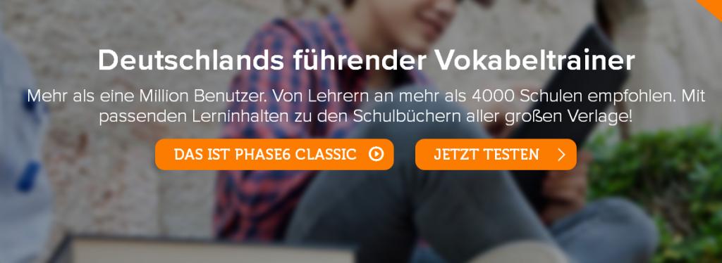 Vokabeltrainer Phase 6, Quelle: Screenshot Webseite